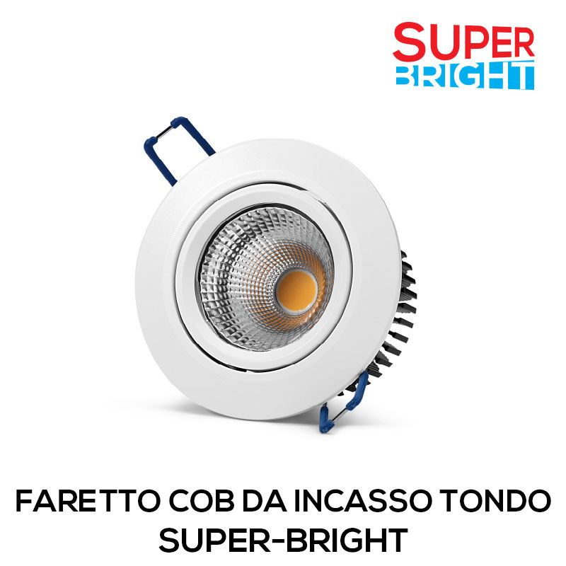 FARETTO COB DA INCASSO TONDO SUPER-BRIGHT