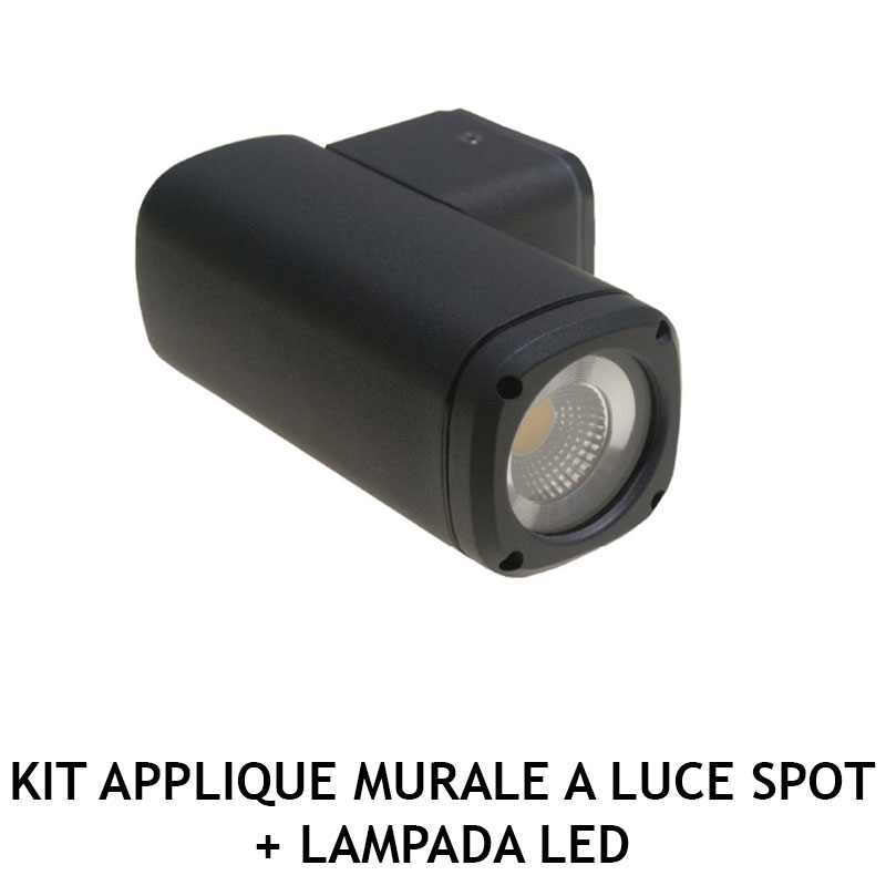 KIT APPLIQUE MURALE A LUCE SPOT + LAMPADA LED