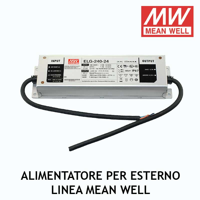 ALIMENTATORE PER ESTERNO LINEA MEAN WELL