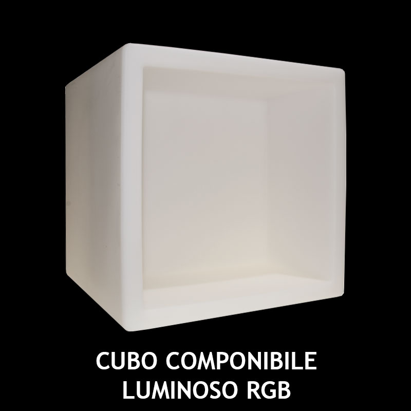 CUBO COMPONIBILE LUMINOSO RGB